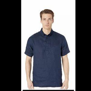 Men's Onia Josh Pullover Shirt M Deep Navy NWT